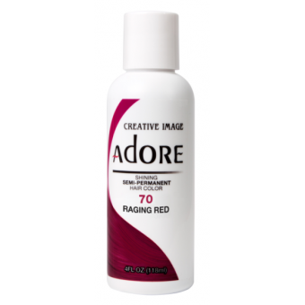 Adore: Semi Permanent Hair Colour Dye - Raging Red 70
