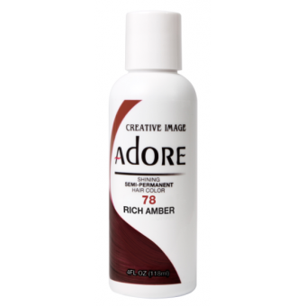 Adore: Semi Permanent Hair Colour Dye - Rich Amber 78
