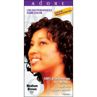 Adore Cream Permanent Hair Colour Dye - Medium Brown 737
