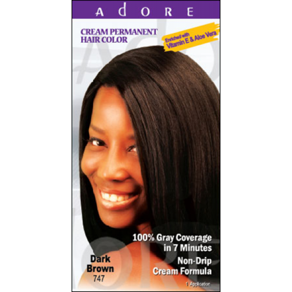 1e229314237 Adore Cream Permanent Hair Colour Dye - Dark Brown 747