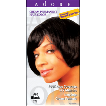 Adore Cream Permanent Hair Colour Dye - Jet Black 777