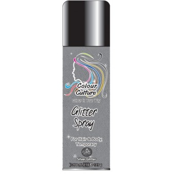 Colour Culture: Colour Spray - Silver Glitter 200ml