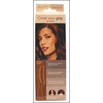 Irene Gari: Cover Your Gray Comb - Medium Brown